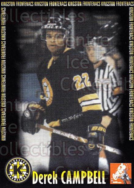 2000-01 Kingston Frontenacs #2 Derek Campbell<br/>1 In Stock - $3.00 each - <a href=https://centericecollectibles.foxycart.com/cart?name=2000-01%20Kingston%20Frontenacs%20%232%20Derek%20Campbell...&price=$3.00&code=85616 class=foxycart> Buy it now! </a>
