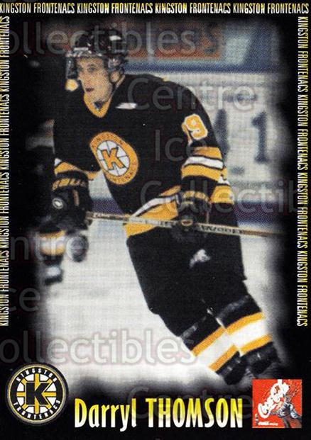 2000-01 Kingston Frontenacs #20 Darryl Thomson<br/>6 In Stock - $3.00 each - <a href=https://centericecollectibles.foxycart.com/cart?name=2000-01%20Kingston%20Frontenacs%20%2320%20Darryl%20Thomson...&price=$3.00&code=85618 class=foxycart> Buy it now! </a>