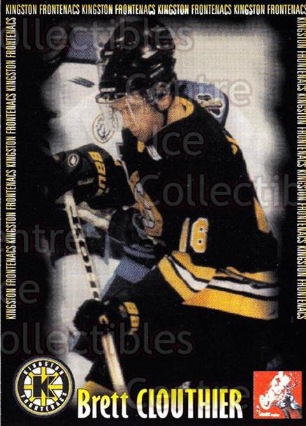 2000-01 Kingston Frontenacs #3 Brett Clouthier<br/>5 In Stock - $3.00 each - <a href=https://centericecollectibles.foxycart.com/cart?name=2000-01%20Kingston%20Frontenacs%20%233%20Brett%20Clouthier...&price=$3.00&code=85621 class=foxycart> Buy it now! </a>