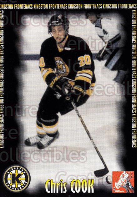 2000-01 Kingston Frontenacs #4 Chris Cook<br/>7 In Stock - $3.00 each - <a href=https://centericecollectibles.foxycart.com/cart?name=2000-01%20Kingston%20Frontenacs%20%234%20Chris%20Cook...&price=$3.00&code=85622 class=foxycart> Buy it now! </a>