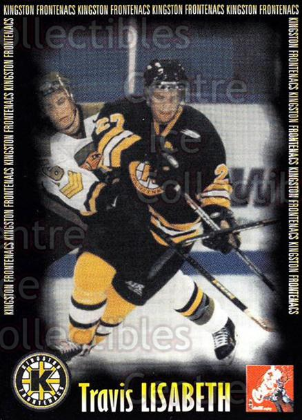 2000-01 Kingston Frontenacs #8 Travis Lisabeth<br/>7 In Stock - $3.00 each - <a href=https://centericecollectibles.foxycart.com/cart?name=2000-01%20Kingston%20Frontenacs%20%238%20Travis%20Lisabeth...&price=$3.00&code=85627 class=foxycart> Buy it now! </a>