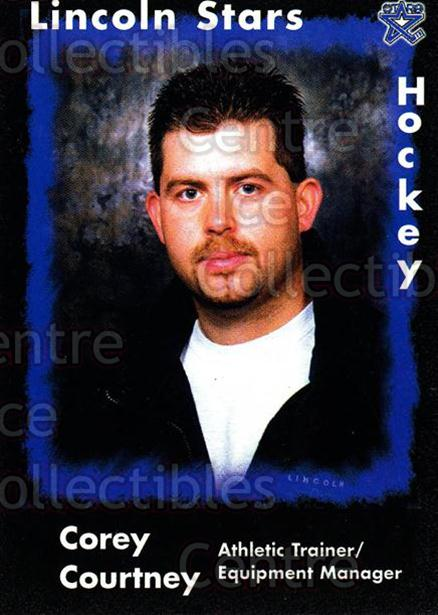 2000-01 Lincoln Stars #27 Corey Courtney<br/>7 In Stock - $3.00 each - <a href=https://centericecollectibles.foxycart.com/cart?name=2000-01%20Lincoln%20Stars%20%2327%20Corey%20Courtney...&quantity_max=7&price=$3.00&code=85681 class=foxycart> Buy it now! </a>
