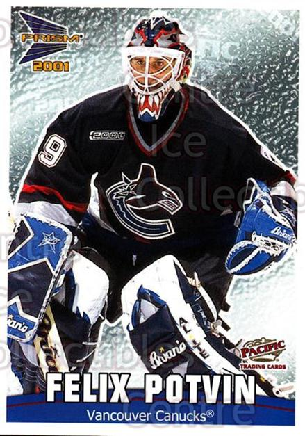 2000-01 McDonalds Pacific Checklists #9 Felix Potvin<br/>11 In Stock - $1.00 each - <a href=https://centericecollectibles.foxycart.com/cart?name=2000-01%20McDonalds%20Pacific%20Checklists%20%239%20Felix%20Potvin...&quantity_max=11&price=$1.00&code=85735 class=foxycart> Buy it now! </a>
