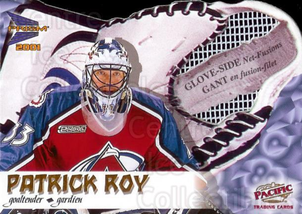 2000-01 McDonald's Pacific Glove Side Net Fusions #2 Patrick Roy<br/>2 In Stock - $10.00 each - <a href=https://centericecollectibles.foxycart.com/cart?name=2000-01%20McDonald's%20Pacific%20Glove%20Side%20Net%20Fusions%20%232%20Patrick%20Roy...&price=$10.00&code=85743 class=foxycart> Buy it now! </a>
