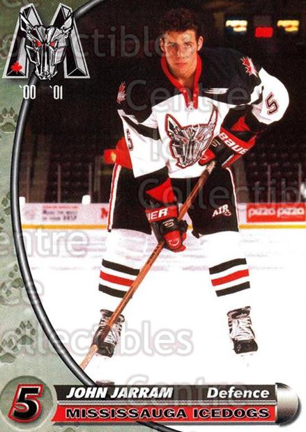 2000-01 Mississauga Ice Dogs #11 John Jarram<br/>8 In Stock - $3.00 each - <a href=https://centericecollectibles.foxycart.com/cart?name=2000-01%20Mississauga%20Ice%20Dogs%20%2311%20John%20Jarram...&quantity_max=8&price=$3.00&code=85788 class=foxycart> Buy it now! </a>