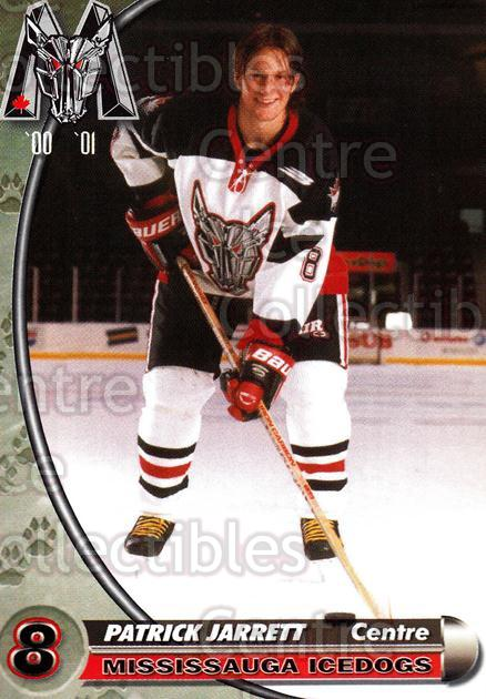 2000-01 Mississauga Ice Dogs #12 Patrick Jarrett<br/>1 In Stock - $3.00 each - <a href=https://centericecollectibles.foxycart.com/cart?name=2000-01%20Mississauga%20Ice%20Dogs%20%2312%20Patrick%20Jarrett...&quantity_max=1&price=$3.00&code=85789 class=foxycart> Buy it now! </a>