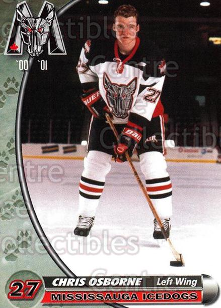 2000-01 Mississauga Ice Dogs #17 Chris Osborne<br/>8 In Stock - $3.00 each - <a href=https://centericecollectibles.foxycart.com/cart?name=2000-01%20Mississauga%20Ice%20Dogs%20%2317%20Chris%20Osborne...&quantity_max=8&price=$3.00&code=85792 class=foxycart> Buy it now! </a>