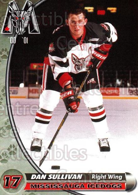 2000-01 Mississauga Ice Dogs #22 Dan Sullivan<br/>5 In Stock - $3.00 each - <a href=https://centericecollectibles.foxycart.com/cart?name=2000-01%20Mississauga%20Ice%20Dogs%20%2322%20Dan%20Sullivan...&quantity_max=5&price=$3.00&code=85798 class=foxycart> Buy it now! </a>