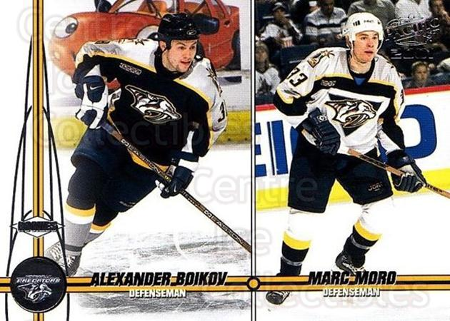 2000-01 Pacific #229 Alexander Boikov, Marc Moro<br/>4 In Stock - $1.00 each - <a href=https://centericecollectibles.foxycart.com/cart?name=2000-01%20Pacific%20%23229%20Alexander%20Boiko...&quantity_max=4&price=$1.00&code=86572 class=foxycart> Buy it now! </a>