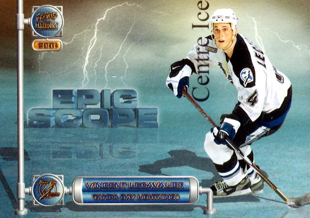 2000-01 Paramount Epic Scope #18 Vincent Lecavalier<br/>4 In Stock - $2.00 each - <a href=https://centericecollectibles.foxycart.com/cart?name=2000-01%20Paramount%20Epic%20Scope%20%2318%20Vincent%20Lecaval...&quantity_max=4&price=$2.00&code=86657 class=foxycart> Buy it now! </a>