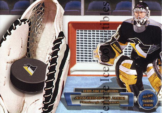 2000-01 Paramount Glove Side Net Fusions #15 Jean-Sebastien Aubin<br/>1 In Stock - $5.00 each - <a href=https://centericecollectibles.foxycart.com/cart?name=2000-01%20Paramount%20Glove%20Side%20Net%20Fusions%20%2315%20Jean-Sebastien%20...&quantity_max=1&price=$5.00&code=86673 class=foxycart> Buy it now! </a>