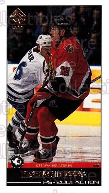 2000-01 Private Stock PS 2001 Action #40 Marian Hossa<br/>8 In Stock - $2.00 each - <a href=https://centericecollectibles.foxycart.com/cart?name=2000-01%20Private%20Stock%20PS%202001%20Action%20%2340%20Marian%20Hossa...&quantity_max=8&price=$2.00&code=87043 class=foxycart> Buy it now! </a>