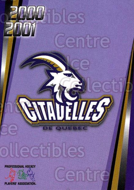 2000-01 Quebec Citadelles #24 Checklist<br/>1 In Stock - $3.00 each - <a href=https://centericecollectibles.foxycart.com/cart?name=2000-01%20Quebec%20Citadelles%20%2324%20Checklist...&quantity_max=1&price=$3.00&code=87197 class=foxycart> Buy it now! </a>