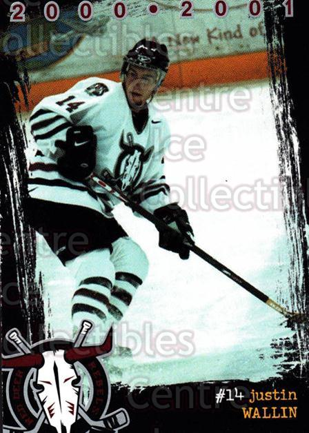 2000-01 Red Deer Rebels #21 Justin Wallin<br/>4 In Stock - $2.00 each - <a href=https://centericecollectibles.foxycart.com/cart?name=2000-01%20Red%20Deer%20Rebels%20%2321%20Justin%20Wallin...&price=$2.00&code=87227 class=foxycart> Buy it now! </a>