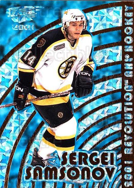 2000-01 Revolution #12 Sergei Samsonov<br/>4 In Stock - $1.00 each - <a href=https://centericecollectibles.foxycart.com/cart?name=2000-01%20Revolution%20%2312%20Sergei%20Samsonov...&quantity_max=4&price=$1.00&code=87366 class=foxycart> Buy it now! </a>