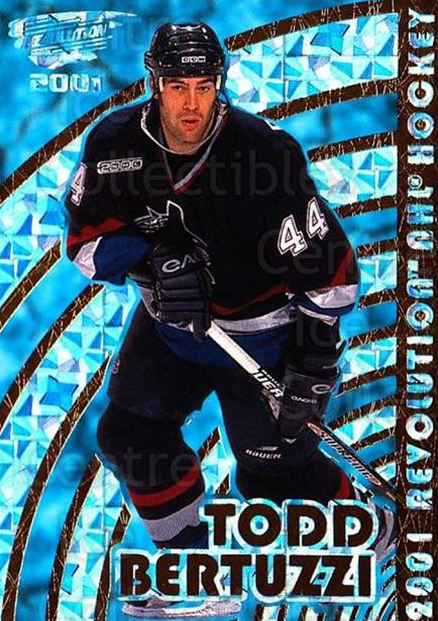 2000-01 Revolution #142 Todd Bertuzzi<br/>6 In Stock - $1.00 each - <a href=https://centericecollectibles.foxycart.com/cart?name=2000-01%20Revolution%20%23142%20Todd%20Bertuzzi...&quantity_max=6&price=$1.00&code=87385 class=foxycart> Buy it now! </a>