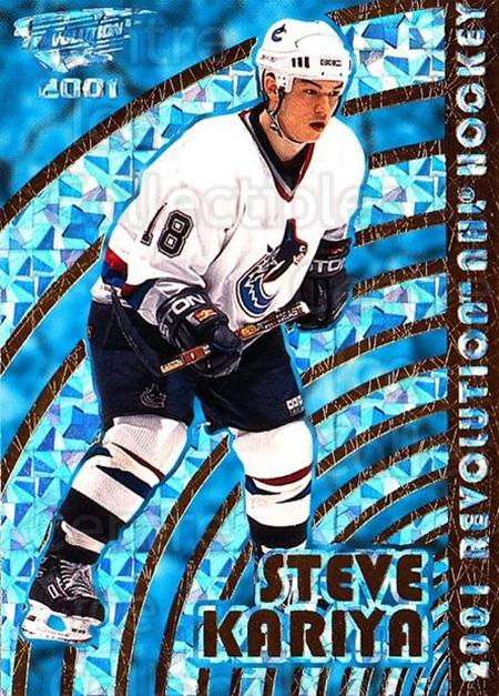 2000-01 Revolution #143 Steve Kariya<br/>9 In Stock - $1.00 each - <a href=https://centericecollectibles.foxycart.com/cart?name=2000-01%20Revolution%20%23143%20Steve%20Kariya...&quantity_max=9&price=$1.00&code=87386 class=foxycart> Buy it now! </a>