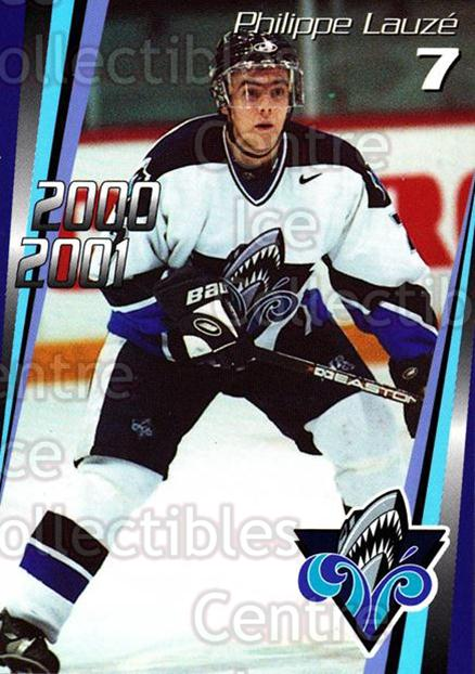 2000-01 Rimouski Oceanic #1 Philippe Lauze<br/>5 In Stock - $3.00 each - <a href=https://centericecollectibles.foxycart.com/cart?name=2000-01%20Rimouski%20Oceanic%20%231%20Philippe%20Lauze...&quantity_max=5&price=$3.00&code=87487 class=foxycart> Buy it now! </a>
