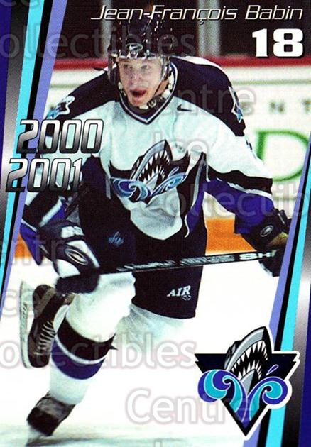 2000-01 Rimouski Oceanic #10 Jean-Francois Babin<br/>7 In Stock - $3.00 each - <a href=https://centericecollectibles.foxycart.com/cart?name=2000-01%20Rimouski%20Oceanic%20%2310%20Jean-Francois%20B...&quantity_max=7&price=$3.00&code=87488 class=foxycart> Buy it now! </a>