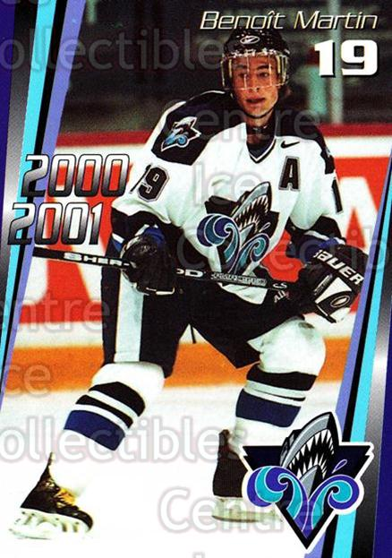 2000-01 Rimouski Oceanic #11 Benoit Martin<br/>7 In Stock - $3.00 each - <a href=https://centericecollectibles.foxycart.com/cart?name=2000-01%20Rimouski%20Oceanic%20%2311%20Benoit%20Martin...&quantity_max=7&price=$3.00&code=87489 class=foxycart> Buy it now! </a>