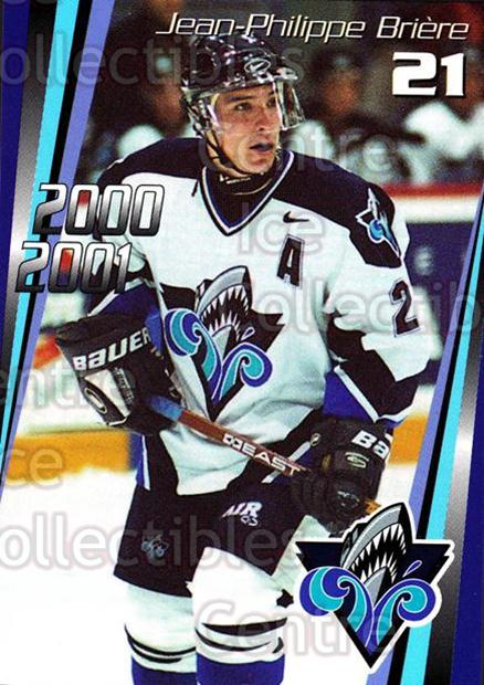 2000-01 Rimouski Oceanic #13 Jean-Philippe Briere<br/>7 In Stock - $3.00 each - <a href=https://centericecollectibles.foxycart.com/cart?name=2000-01%20Rimouski%20Oceanic%20%2313%20Jean-Philippe%20B...&quantity_max=7&price=$3.00&code=87491 class=foxycart> Buy it now! </a>