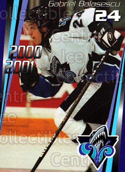 2000-01 Rimouski Oceanic #16 Gabriel Balasescu<br/>7 In Stock - $3.00 each - <a href=https://centericecollectibles.foxycart.com/cart?name=2000-01%20Rimouski%20Oceanic%20%2316%20Gabriel%20Balases...&quantity_max=7&price=$3.00&code=87494 class=foxycart> Buy it now! </a>