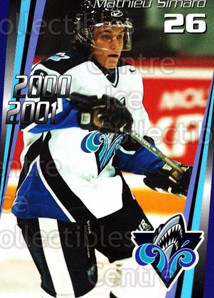 2000-01 Rimouski Oceanic #17 Mathieu Simard<br/>7 In Stock - $3.00 each - <a href=https://centericecollectibles.foxycart.com/cart?name=2000-01%20Rimouski%20Oceanic%20%2317%20Mathieu%20Simard...&quantity_max=7&price=$3.00&code=87495 class=foxycart> Buy it now! </a>
