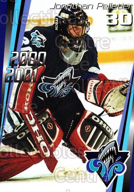 2000-01 Rimouski Oceanic #20 Jonathan Pelletier<br/>7 In Stock - $3.00 each - <a href=https://centericecollectibles.foxycart.com/cart?name=2000-01%20Rimouski%20Oceanic%20%2320%20Jonathan%20Pellet...&quantity_max=7&price=$3.00&code=87499 class=foxycart> Buy it now! </a>