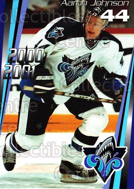 2000-01 Rimouski Oceanic #22 Aaron Johnson<br/>1 In Stock - $3.00 each - <a href=https://centericecollectibles.foxycart.com/cart?name=2000-01%20Rimouski%20Oceanic%20%2322%20Aaron%20Johnson...&quantity_max=1&price=$3.00&code=87501 class=foxycart> Buy it now! </a>
