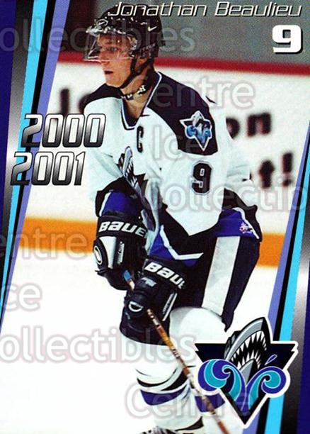 2000-01 Rimouski Oceanic #3 Jonathan Beaulieu<br/>6 In Stock - $3.00 each - <a href=https://centericecollectibles.foxycart.com/cart?name=2000-01%20Rimouski%20Oceanic%20%233%20Jonathan%20Beauli...&quantity_max=6&price=$3.00&code=87505 class=foxycart> Buy it now! </a>