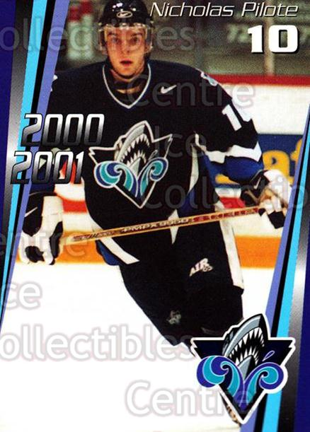2000-01 Rimouski Oceanic #4 Nicolas Pilote<br/>7 In Stock - $3.00 each - <a href=https://centericecollectibles.foxycart.com/cart?name=2000-01%20Rimouski%20Oceanic%20%234%20Nicolas%20Pilote...&quantity_max=7&price=$3.00&code=87506 class=foxycart> Buy it now! </a>
