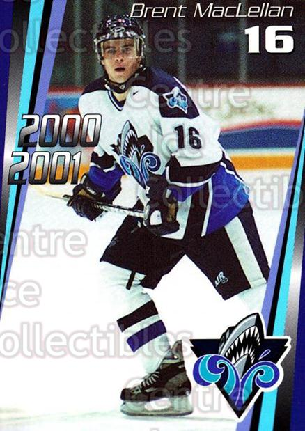 2000-01 Rimouski Oceanic #8 Brent Maclellan<br/>7 In Stock - $3.00 each - <a href=https://centericecollectibles.foxycart.com/cart?name=2000-01%20Rimouski%20Oceanic%20%238%20Brent%20Maclellan...&quantity_max=7&price=$3.00&code=87510 class=foxycart> Buy it now! </a>