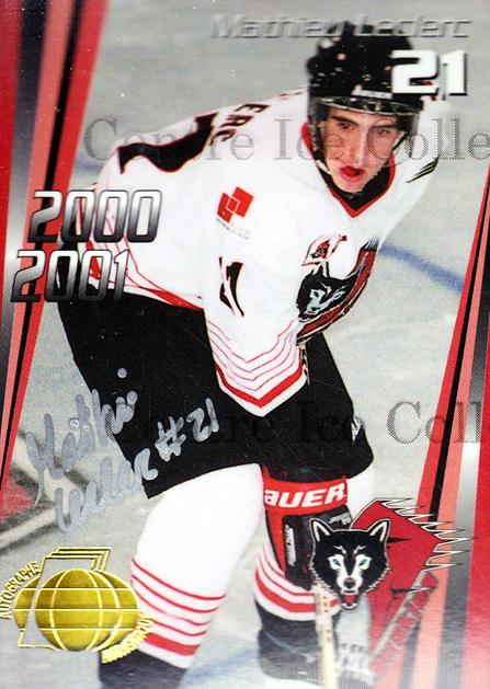 2000-01 Rouyn-Noranda Huskies Autographed #12 Mathieu Leclerc<br/>3 In Stock - $5.00 each - <a href=https://centericecollectibles.foxycart.com/cart?name=2000-01%20Rouyn-Noranda%20Huskies%20Autographed%20%2312%20Mathieu%20Leclerc...&quantity_max=3&price=$5.00&code=87515 class=foxycart> Buy it now! </a>