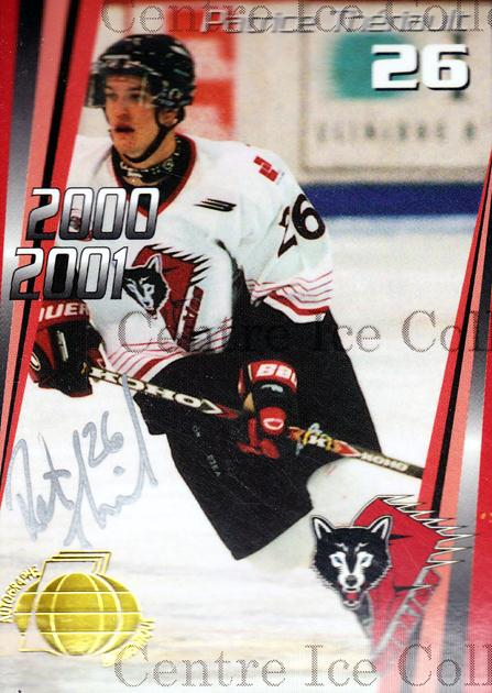 2000-01 Rouyn-Noranda Huskies Autographed #14 Patrice Theriault<br/>3 In Stock - $5.00 each - <a href=https://centericecollectibles.foxycart.com/cart?name=2000-01%20Rouyn-Noranda%20Huskies%20Autographed%20%2314%20Patrice%20Theriau...&quantity_max=3&price=$5.00&code=87517 class=foxycart> Buy it now! </a>