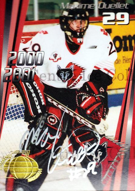 2000-01 Rouyn-Noranda Huskies Autographed #16 Maxime Ouellet<br/>1 In Stock - $5.00 each - <a href=https://centericecollectibles.foxycart.com/cart?name=2000-01%20Rouyn-Noranda%20Huskies%20Autographed%20%2316%20Maxime%20Ouellet...&quantity_max=1&price=$5.00&code=87519 class=foxycart> Buy it now! </a>