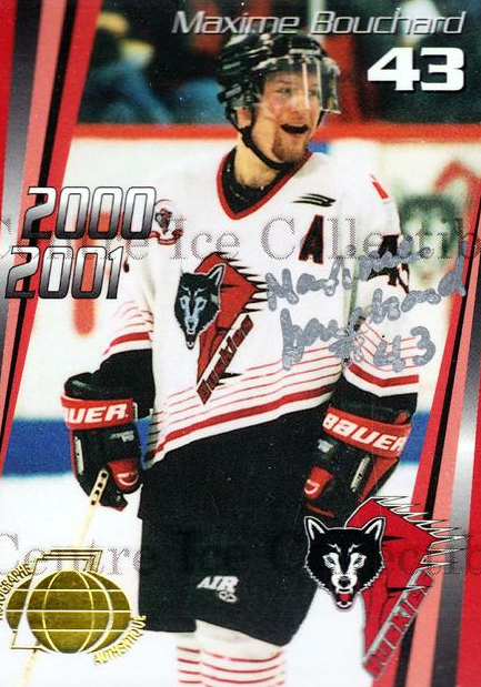 2000-01 Rouyn-Noranda Huskies Autographed #20 Maxime Bouchard<br/>3 In Stock - $5.00 each - <a href=https://centericecollectibles.foxycart.com/cart?name=2000-01%20Rouyn-Noranda%20Huskies%20Autographed%20%2320%20Maxime%20Bouchard...&quantity_max=3&price=$5.00&code=87524 class=foxycart> Buy it now! </a>