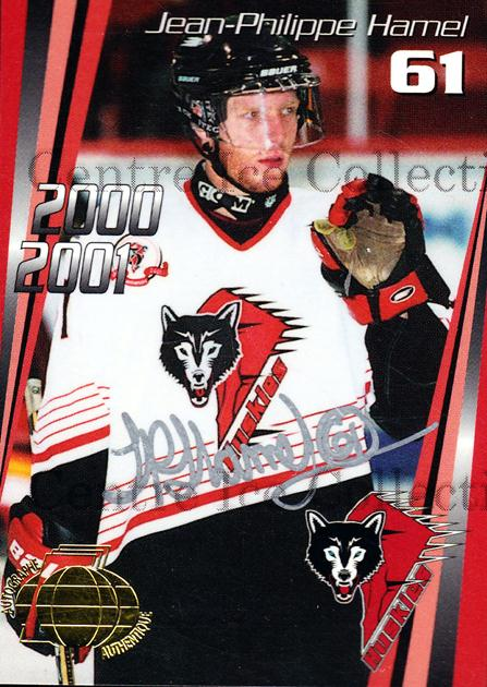 2000-01 Rouyn-Noranda Huskies Autographed #22 Jean-Philippe Hamel<br/>2 In Stock - $5.00 each - <a href=https://centericecollectibles.foxycart.com/cart?name=2000-01%20Rouyn-Noranda%20Huskies%20Autographed%20%2322%20Jean-Philippe%20H...&quantity_max=2&price=$5.00&code=87526 class=foxycart> Buy it now! </a>