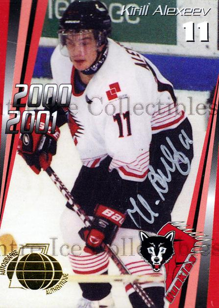 2000-01 Rouyn-Noranda Huskies Autographed #4 Kirill Alexeev<br/>3 In Stock - $5.00 each - <a href=https://centericecollectibles.foxycart.com/cart?name=2000-01%20Rouyn-Noranda%20Huskies%20Autographed%20%234%20Kirill%20Alexeev...&quantity_max=3&price=$5.00&code=87532 class=foxycart> Buy it now! </a>