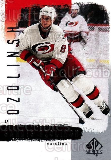 2000-01 SP Authentic #18 Sandis Ozolinsh<br/>5 In Stock - $1.00 each - <a href=https://centericecollectibles.foxycart.com/cart?name=2000-01%20SP%20Authentic%20%2318%20Sandis%20Ozolinsh...&quantity_max=5&price=$1.00&code=87808 class=foxycart> Buy it now! </a>