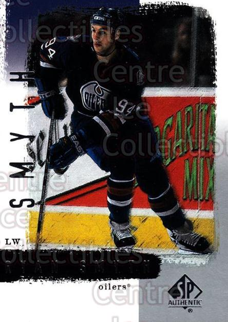 2000-01 SP Authentic #36 Ryan Smyth<br/>5 In Stock - $1.00 each - <a href=https://centericecollectibles.foxycart.com/cart?name=2000-01%20SP%20Authentic%20%2336%20Ryan%20Smyth...&quantity_max=5&price=$1.00&code=87828 class=foxycart> Buy it now! </a>