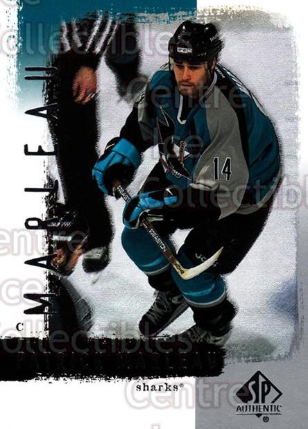 2000-01 SP Authentic #74 Patrick Marleau<br/>5 In Stock - $1.00 each - <a href=https://centericecollectibles.foxycart.com/cart?name=2000-01%20SP%20Authentic%20%2374%20Patrick%20Marleau...&quantity_max=5&price=$1.00&code=87870 class=foxycart> Buy it now! </a>