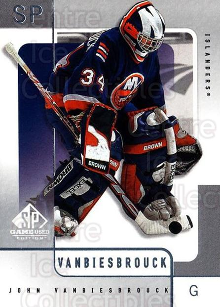 2000-01 SP Game Used #39 John Vanbiesbrouck<br/>5 In Stock - $1.00 each - <a href=https://centericecollectibles.foxycart.com/cart?name=2000-01%20SP%20Game%20Used%20%2339%20John%20Vanbiesbro...&quantity_max=5&price=$1.00&code=87908 class=foxycart> Buy it now! </a>