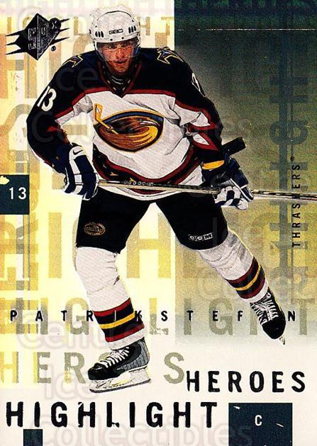 2000-01 SPx Highlight Heroes #2 Patrik Stefan<br/>7 In Stock - $2.00 each - <a href=https://centericecollectibles.foxycart.com/cart?name=2000-01%20SPx%20Highlight%20Heroes%20%232%20Patrik%20Stefan...&quantity_max=7&price=$2.00&code=87974 class=foxycart> Buy it now! </a>