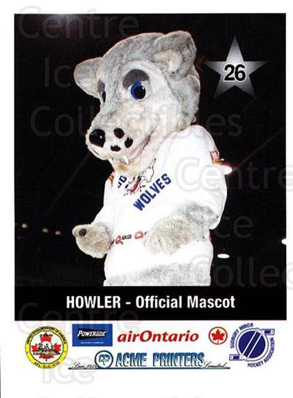 2000-01 Sudbury Wolves Police #26 Mascot<br/>7 In Stock - $3.00 each - <a href=https://centericecollectibles.foxycart.com/cart?name=2000-01%20Sudbury%20Wolves%20Police%20%2326%20Mascot...&quantity_max=7&price=$3.00&code=88360 class=foxycart> Buy it now! </a>