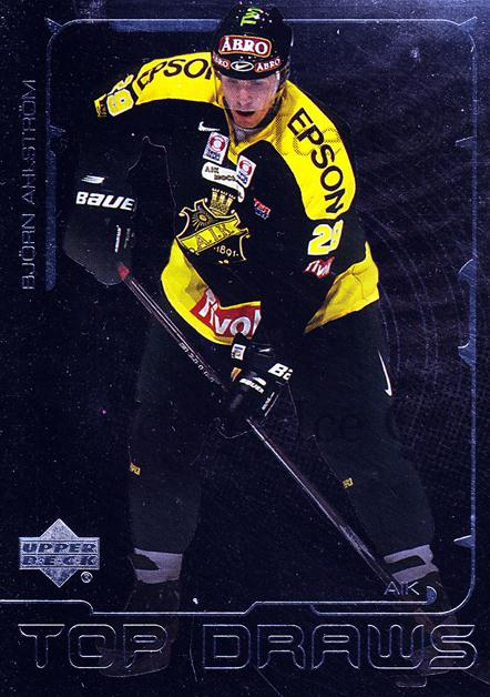 2000-01 Swedish Upper Deck Top Draws #1 Bjorn Ahlstrom<br/>3 In Stock - $2.00 each - <a href=https://centericecollectibles.foxycart.com/cart?name=2000-01%20Swedish%20Upper%20Deck%20Top%20Draws%20%231%20Bjorn%20Ahlstrom...&quantity_max=3&price=$2.00&code=88378 class=foxycart> Buy it now! </a>