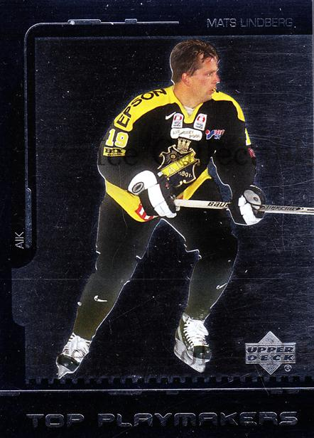 2000-01 Swedish Upper Deck Top Playmakers #1 Mats Lindberg<br/>2 In Stock - $2.00 each - <a href=https://centericecollectibles.foxycart.com/cart?name=2000-01%20Swedish%20Upper%20Deck%20Top%20Playmakers%20%231%20Mats%20Lindberg...&quantity_max=2&price=$2.00&code=88389 class=foxycart> Buy it now! </a>