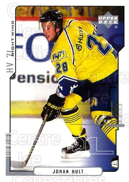 2000-01 Swedish Upper Deck #100 Johan Hult<br/>6 In Stock - $2.00 each - <a href=https://centericecollectibles.foxycart.com/cart?name=2000-01%20Swedish%20Upper%20Deck%20%23100%20Johan%20Hult...&price=$2.00&code=88396 class=foxycart> Buy it now! </a>