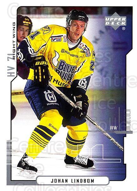 2000-01 Swedish Upper Deck #101 Johan Lindbom<br/>5 In Stock - $2.00 each - <a href=https://centericecollectibles.foxycart.com/cart?name=2000-01%20Swedish%20Upper%20Deck%20%23101%20Johan%20Lindbom...&price=$2.00&code=88397 class=foxycart> Buy it now! </a>