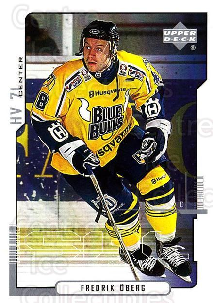 2000-01 Swedish Upper Deck #105 Fredrik Oberg<br/>7 In Stock - $2.00 each - <a href=https://centericecollectibles.foxycart.com/cart?name=2000-01%20Swedish%20Upper%20Deck%20%23105%20Fredrik%20Oberg...&price=$2.00&code=88399 class=foxycart> Buy it now! </a>