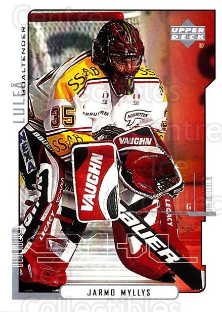 2000-01 Swedish Upper Deck #120 Jarmo Myllys<br/>1 In Stock - $2.00 each - <a href=https://centericecollectibles.foxycart.com/cart?name=2000-01%20Swedish%20Upper%20Deck%20%23120%20Jarmo%20Myllys...&quantity_max=1&price=$2.00&code=88411 class=foxycart> Buy it now! </a>